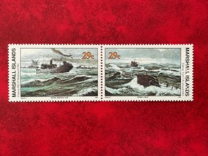 1992 Marshall Islands 2 Stamp Pair #432-433 WWII Convoy PQ-17 Destroyed MNH