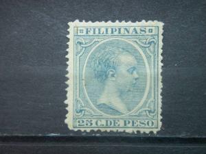 PHILIPPINES, Spanish, 1891, used 25c, King Alfonso XIII, Scott 178