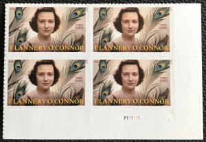 US #5003 MNH LR Plate Block of 4 Flannery O'Connor (.93) SCV $7.60