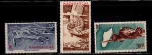 Madagascar Scott C51-C58 MNH** Airmail set 1946