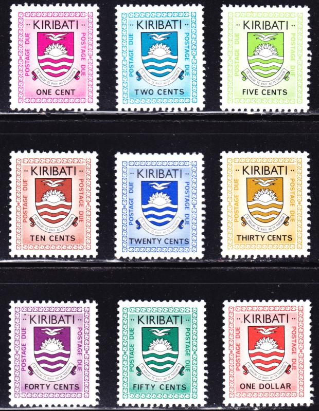 Kiribati Scott J1-J9  complete set  F to VF mint OG NH.