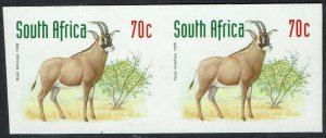 SOUTH AFRICA 1997 BUCK 70C IMPERF PAIR MNH **