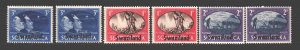 Swaziland. 1945. 38-43. Overlay name of the country to South Africa marks. MNH.