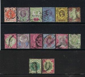 GREAT BRITAIN SCOTT #111-122/125-126  1887 QUEEN VICTORIA  JUBILEE - USED