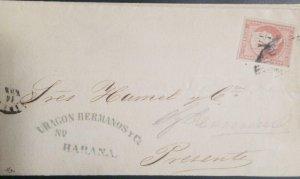 O) 1855  SPANISH DOMINION, QUEEN ISABELLA II - Y 1/4 SURCHARGED, NO WATERMARK, U