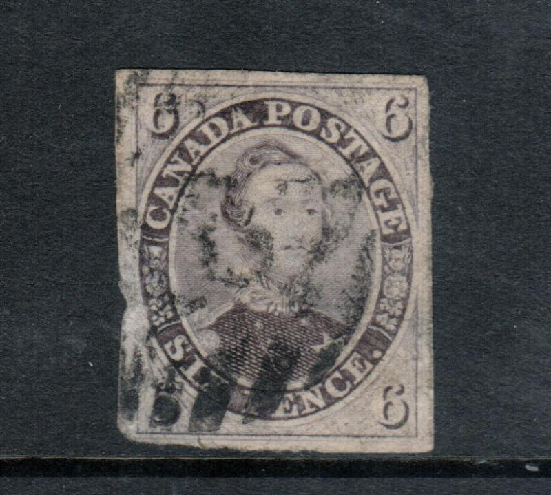 Canada #10 Very Fine Used With Hamilton 16 Numeral Cancel - Thins On Back