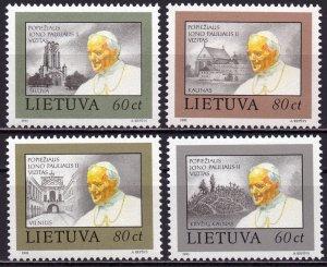 Lithuania. 1993. 533-36. Pope paul 2. MNH.