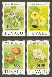 Tuvalu #625-8 NH Wild Flowers