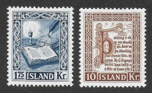 Doyle's_Stamps: MH  Iceland Scott #281* & #282* Issues of 1953