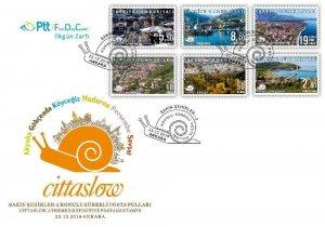 TURKEY/2019 -(FDC)Cittaslow-2 Themed Defin. (City View), MNH
