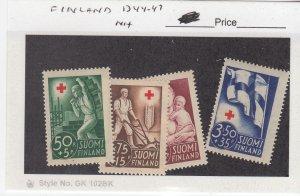J25882 jlstamps 1941 finland set mnh #b44-7 designs, all checked