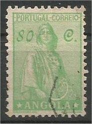 ANGOLA, 1932, used 80c Ceres Scott 255