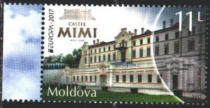 Moldova. 2017. 1000. Castle, europe-sept. MNH.