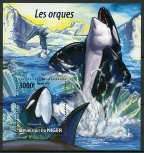 Niger MNH S/S Orcas Killer Whales Marine Life