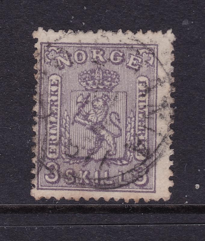 Norway an early 3Sk black/lilac good/fine used