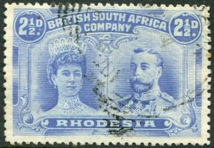 RHODESIA-1910-13 2½d Ultramarine Sg 131 GOOD USED V48376