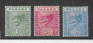 Malaya Pahang 1892-95, Set Scott # 11-13,Mint Hinged* (RN-4) SCV$25