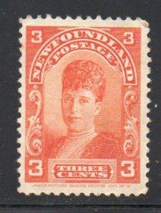 Newfoundland Sc 83 1898 3c Princess of Wales stamp mint NH