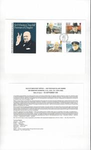 Isle of Man 432-35  Sir Winston Churchill 1990  Official FDC