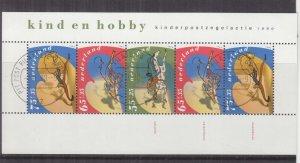 NETHERLANDS, 1990 Child Welfare set of 3 & souvenir Sheet, used.