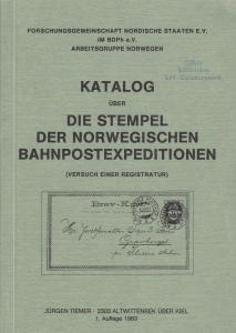 Die Stempel der Norwegischen Bahnpostexpeditionen, by Jurgen Tiemer. Used.
