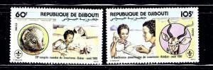 Djibouti 533-34 MNH 1981 Boy Scouts
