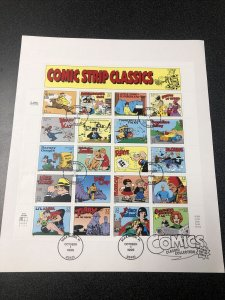 US 3000 Comic Strip Classics Souvenir Page First Day Of Issue 1995