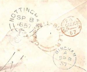 MS1066 1857 GB Notts *CROPWELL-BUTLER* UDC Village Receiver Bingham Cover Herts