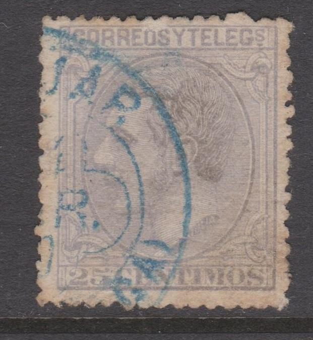 Spain Sc#246 Used Blue Cancel