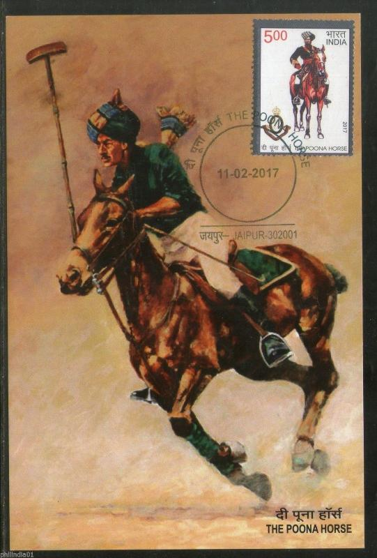 India 2017 The Poona Horse Military Costume MilitaryMax Card # 6413
