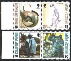 Isle Of Man. 1993. 546-49. Sculptures, dinosaur, europe-sept. MNH.