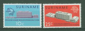 SURINAM/SURINAME 1970 MNH SC.B371/72 UPU Headquarters