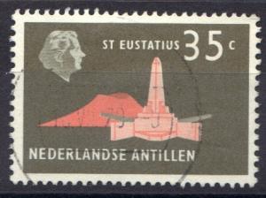 Netherlands Antilles  #251  used  1959   Juliana  35c  obelisk