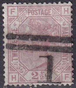 Great Britain #67 Plate 6   F-VF Used CV $60.00  (A18705)