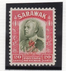 Sarawak 1947 Early Issue Fine Mint MNH 20c. Optd  029767