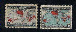 Canada 85,86b  Mint VF 1898   PD