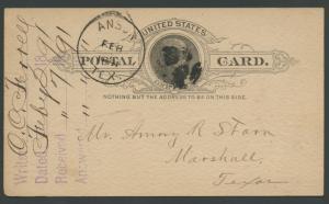 TEXAS JONES COUNTY (1891 Anson) (277)