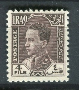 IRAQ; 1934 early Ghazi issue Mint hinged 4f. value