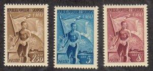 Albania - 1949 - SC 435-37 - NH - Complete set