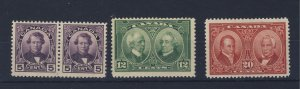 4x Canada Stamps #146-5c Pair #147 #148 Guide Value = $54.00