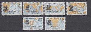 J29291, 1988 france set mnh #b593-8 explorers