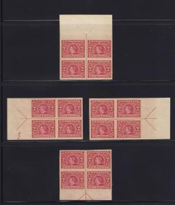 371 set of 4 arrow blocks XF lightly hinged/NH nice color cv $ 480 ! see pic !