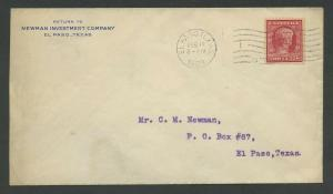 #367 FIRST DAY COVER FEB 12,1909 EL PASO, TX (XF) BU8866