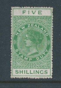 New Zealand #AR6 Mint No Gum 5sh Postal Fiscal Stamp