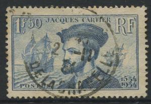 France - Scott 297 - General Issue -1934 - FU - Single 1.50fr Stamp