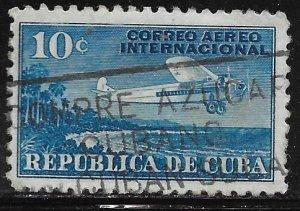 Cuba C5: 10c Airplane and Coast of Cuba, used, F-VF