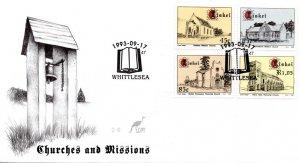 Ciskei - 1993 Churches FDC SG 232-235