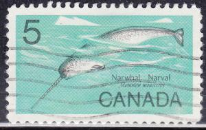 Canada 480 Narwhal Whale 5¢ 1968