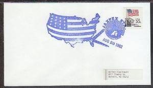 Jaxpex Station Jacksonville,FL,1982 Cancel Cover  BIN
