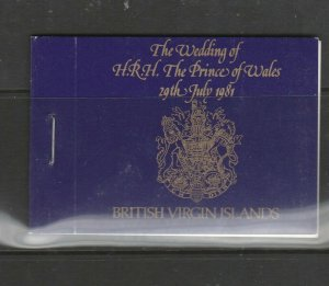 British Virgin Islands Booklet 1981 Royal Wedding SG SB1
